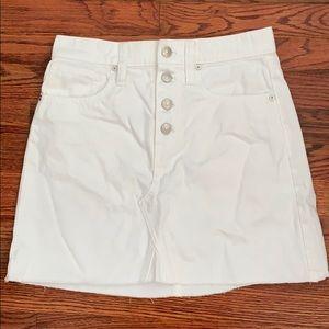 Madewell White Denim Skirt NWOT